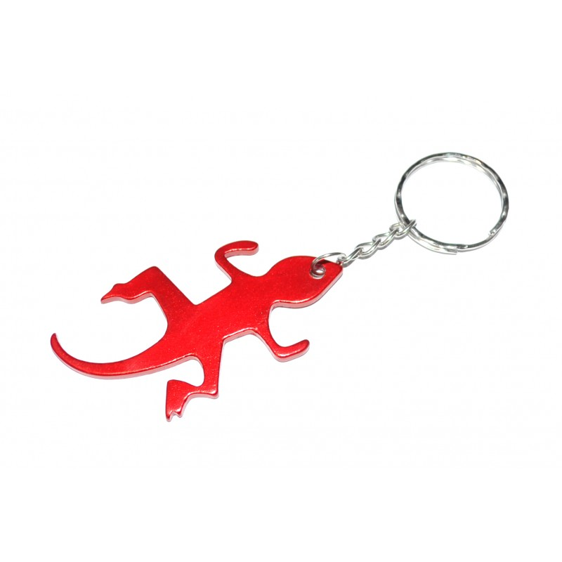 Lizard Red Bottle Opener Keyring