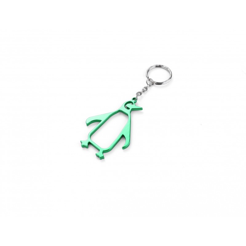 Penguin Green Bottle Opener Keyring
