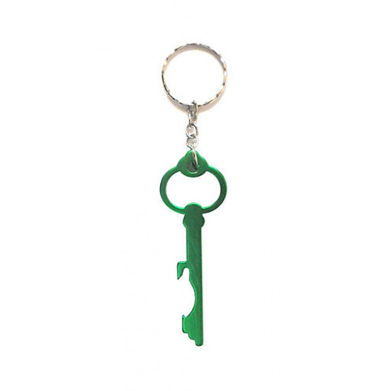 Bike Green Metal Keyring