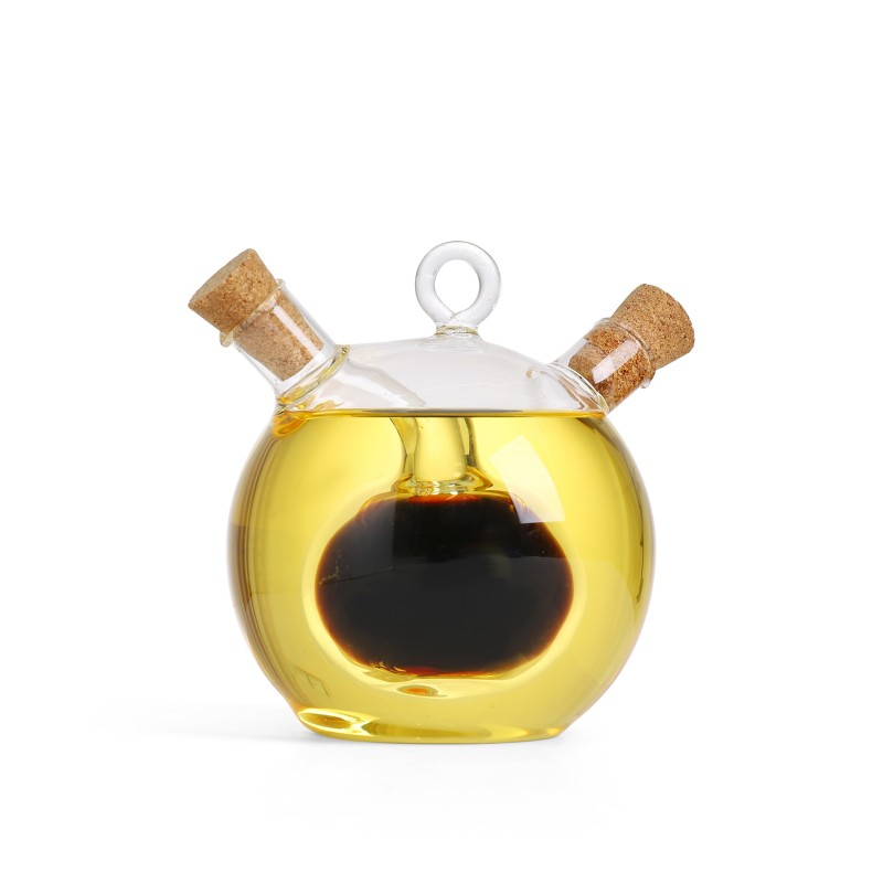 Olive Oil and Vinegar Dual Glass Dispenser Bottle (VB11)