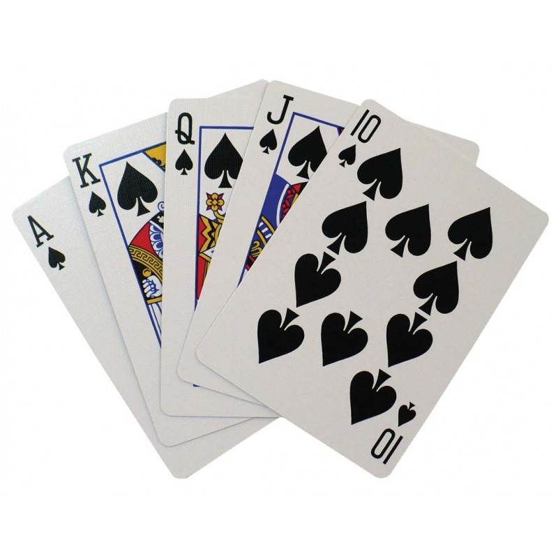 Komonee Blue Plastic Coated Deck Of Playing Cards (Pack Of 5)