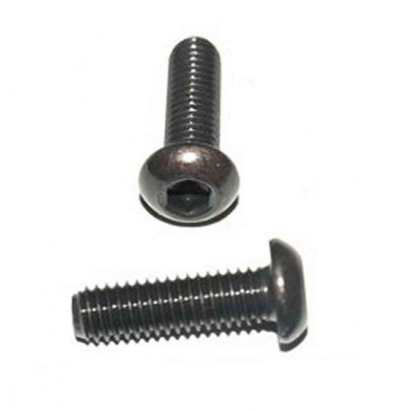 Tattoo Machine Spare Parts 2 BLACK BUTTON HEAD SCREWS