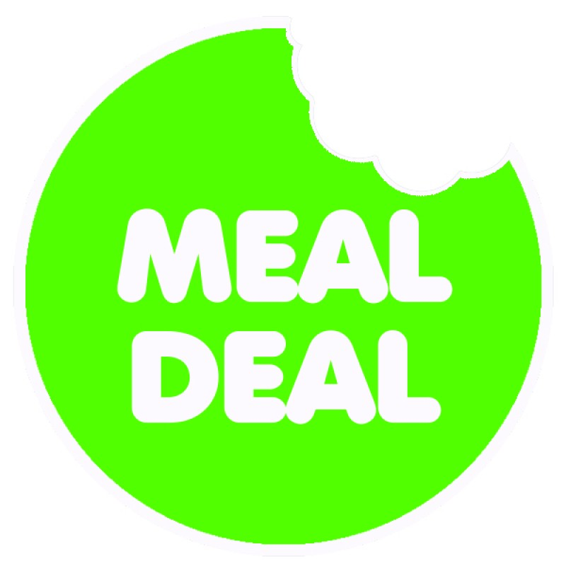 Meal Deal Green Round Sticker For Baking Cooking Food Packaging (Pack Of 75)