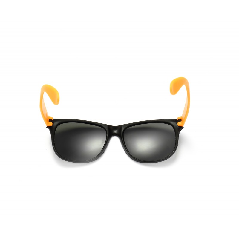 Black and Orange Retro Drifter Style Sunglasses Unisex