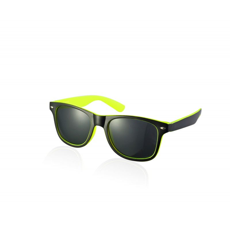 2-Tone Black and Bright Yellow Drifter Style Sunglasses UV400 Protection Unisex (Pack of 5) (SG-129)