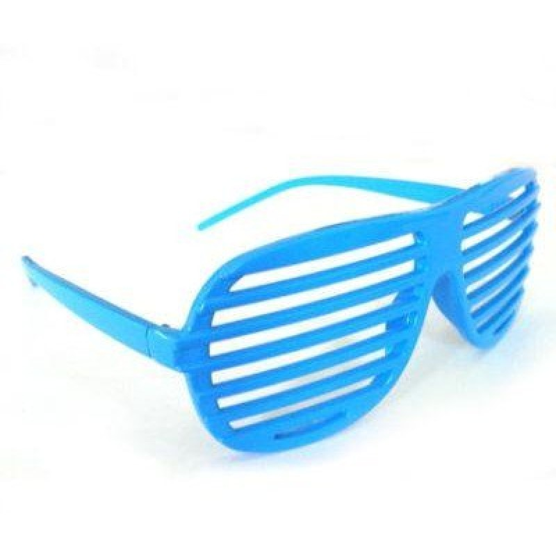 Dark Blue Shutter Shades Fun Novelty Plastic Party Sunglasses