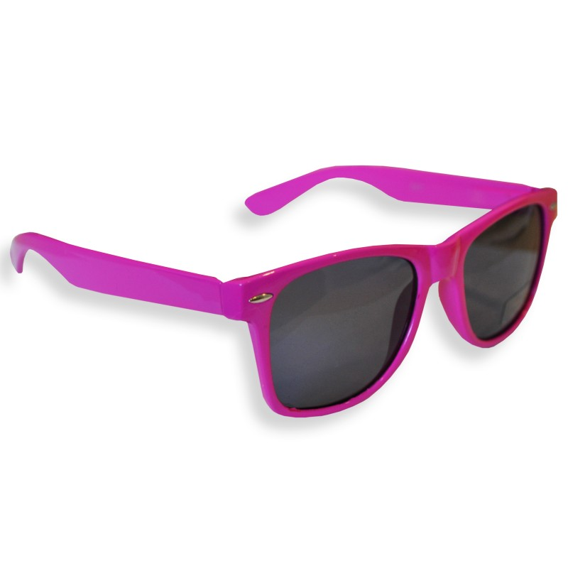 Black and Pink Frame with Pink Tint Lens Retro Drifter Style Sunglasses Unisex