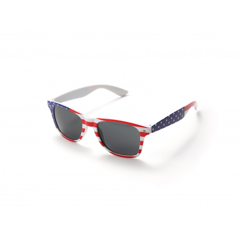 USA Flag Drifter White Style Sunglasses UV400 Protection Unisex (Pack of 3)