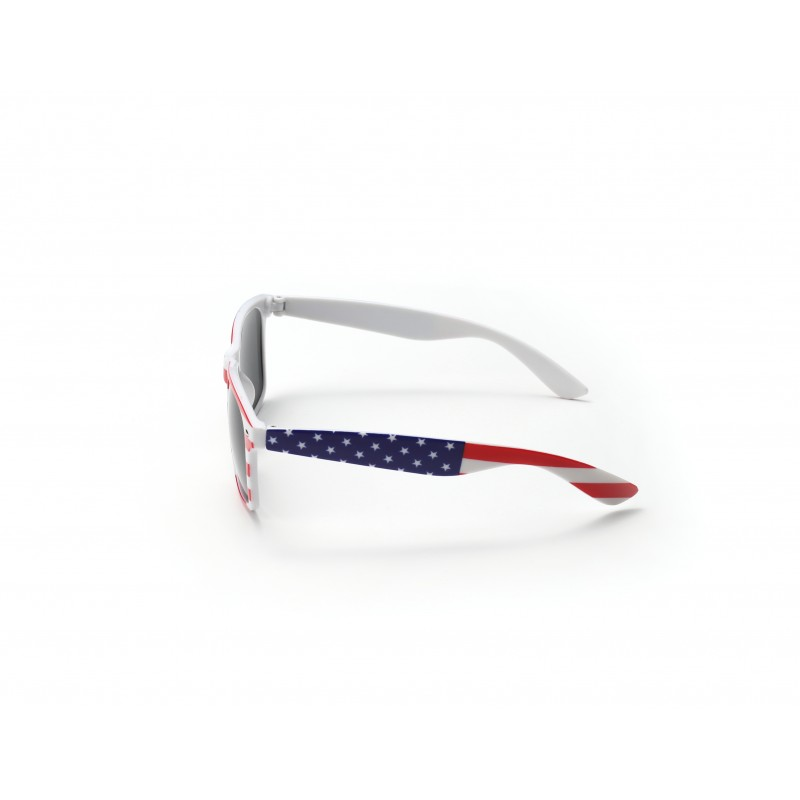 USA Flag Drifter White Style Sunglasses UV400 Protection Unisex (Pack of 10)