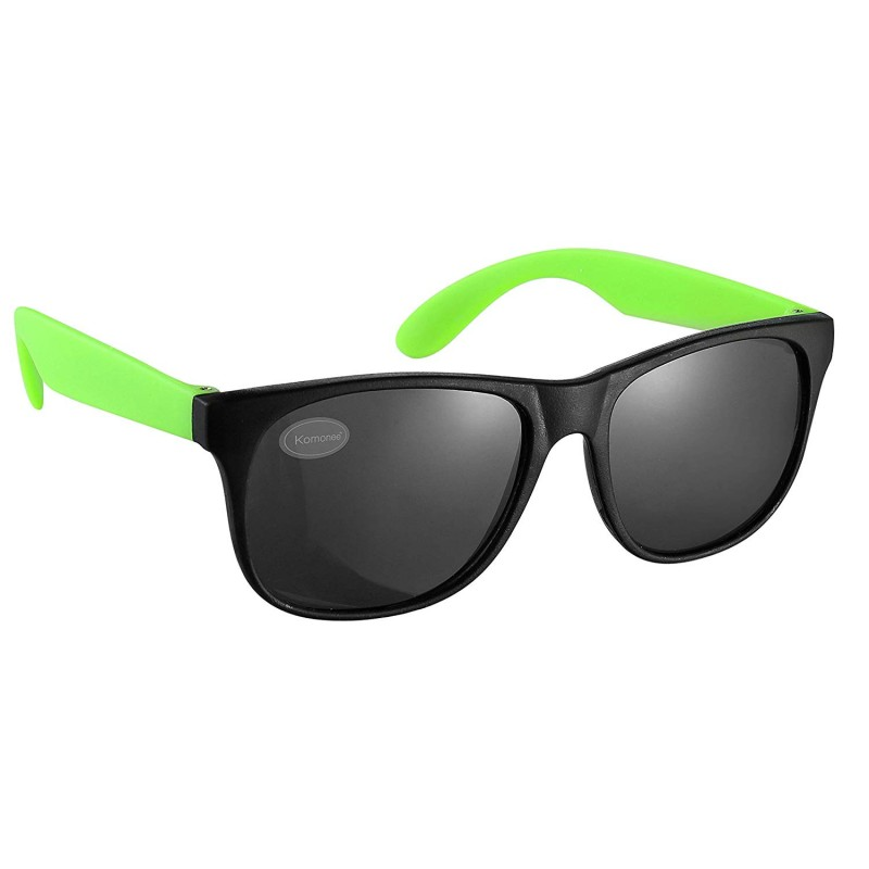 Black and Green Drifter Style Sunglasses UV400 Protection Unisex