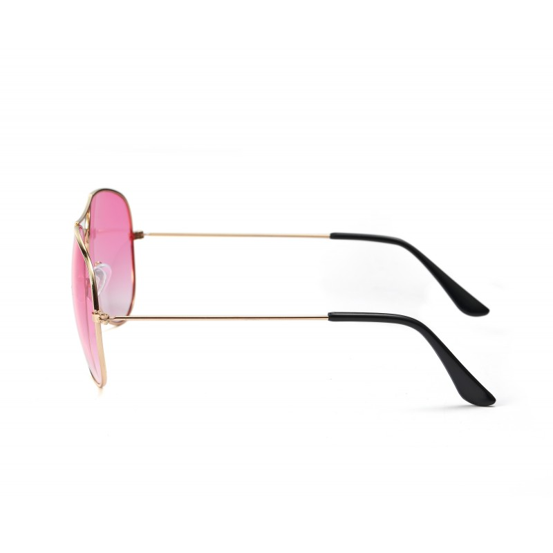 Pilot Style Pink Lens Sunglasses Designer Unisex UV400 Protection Shades (Pack of 10)