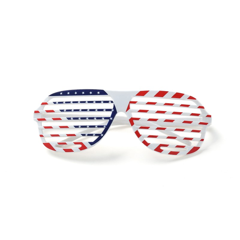 USA American Flag Shutter Shades Fun Novelty Plastic Party Sunglasses