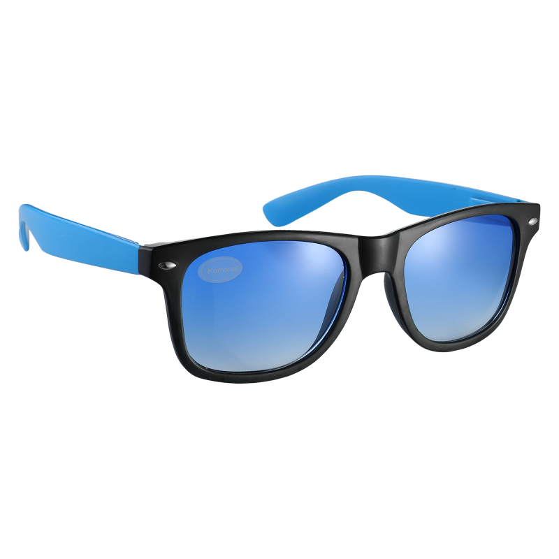 Black and Blue Tint Retro Drifter Style Sunglasses Unisex