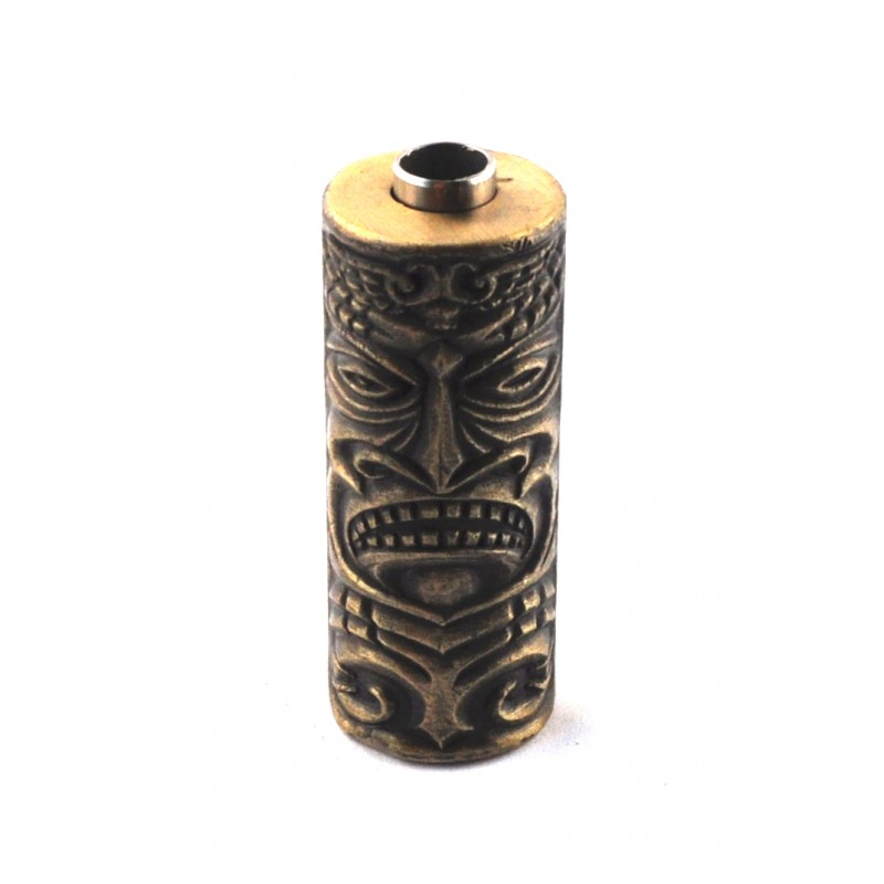 Heavy Duty Tattoo Machine Grip With Tube Tribal Maori Face Design (TG10)