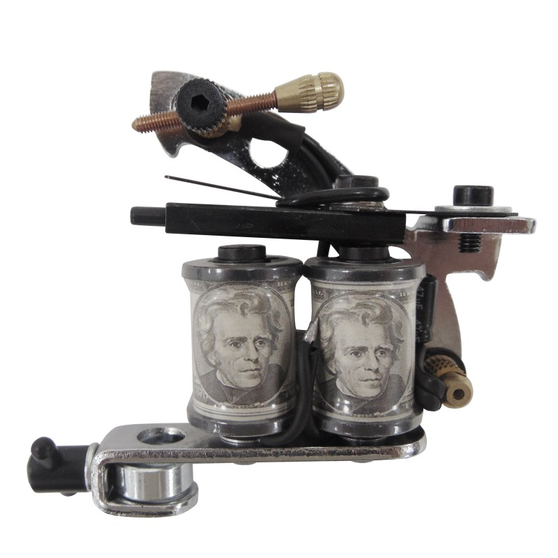 G Frame Tattoo Gun Machine With Dollar Coils