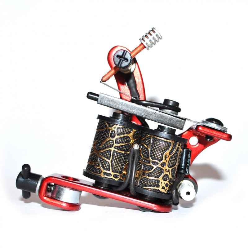 Red Colour Tribal Tattoo Machine Gun
