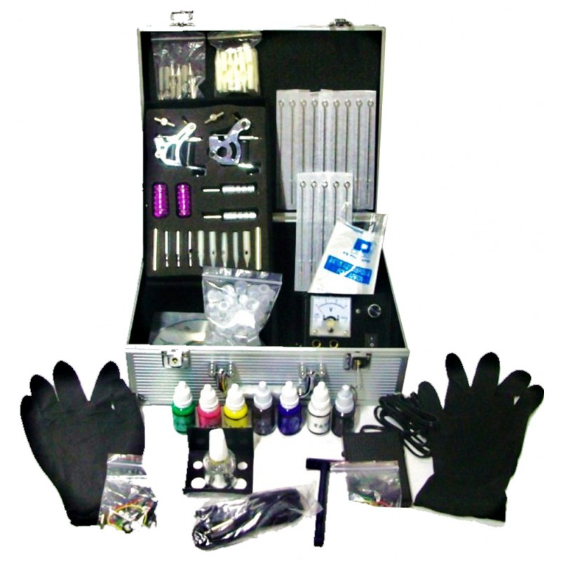 Complete Tattoo Kit 2 Guns Ink Power Tips