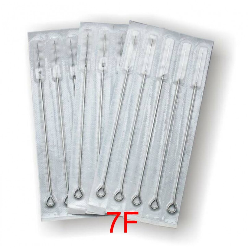 7 Flat Sterile Tattoo Needles 7F (Pack Of 50)