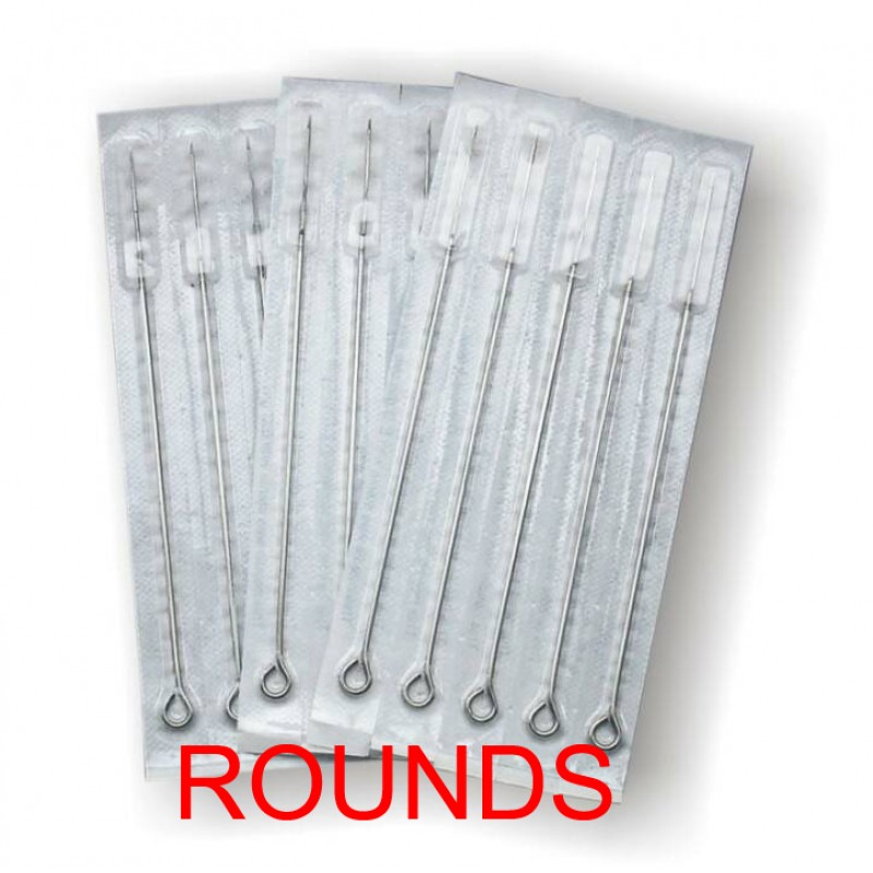 Mixture Of Round Shader Sterile Tattoo Needles (Pack Of 50)