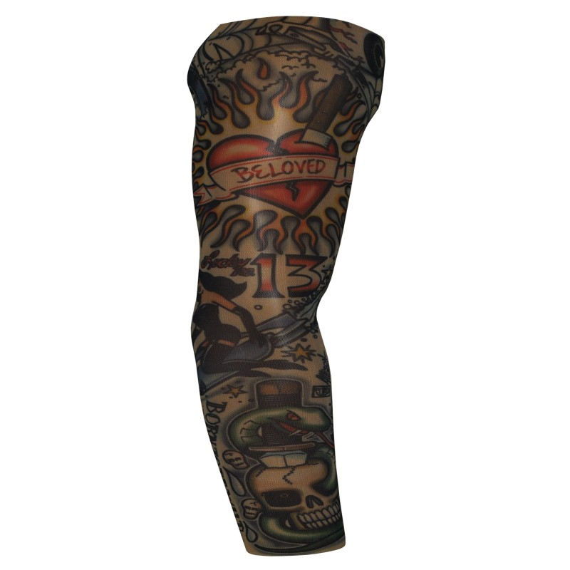 Fake Tattoo Arm Sleeve Born To Be Wild (T9)
