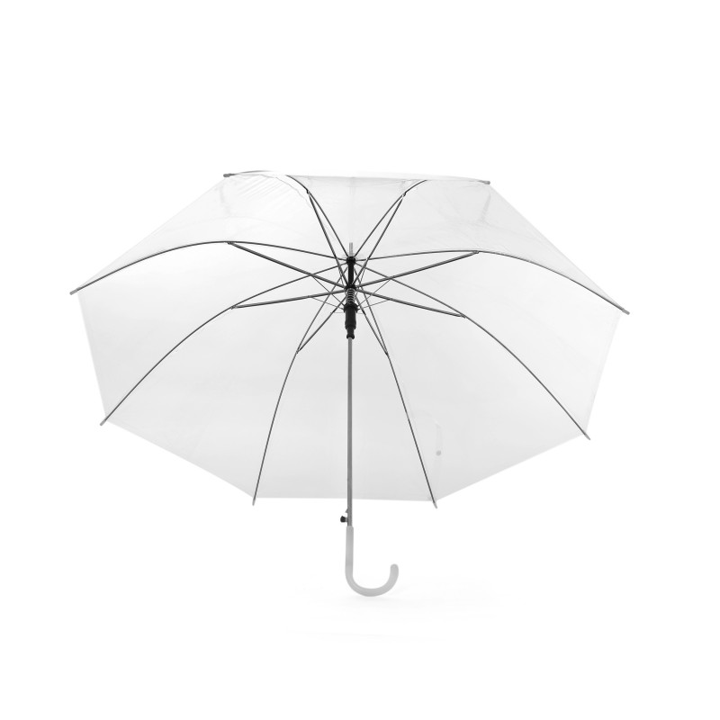 White Star Unisex Stick Umbrella Brolly Quick Release (Pack of 1)