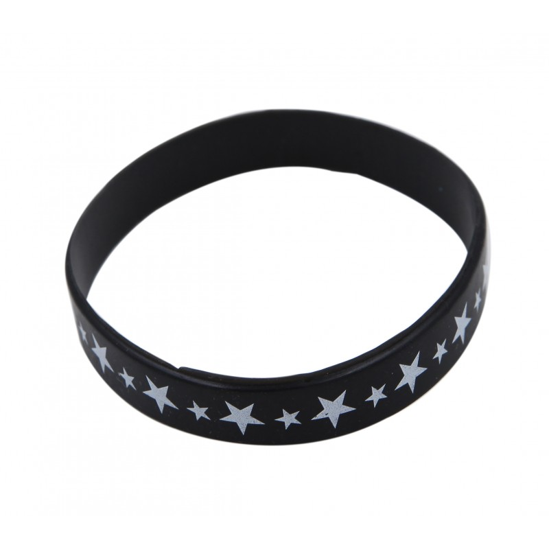 Black Star Silicone Wristband
