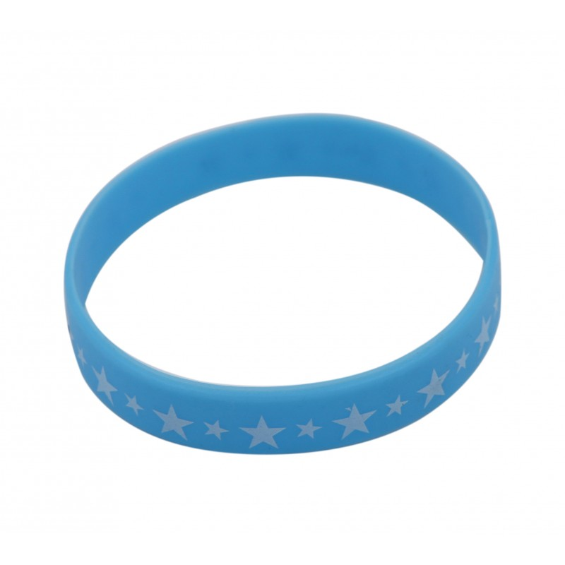 Baby Blue Star Silicone Wristband