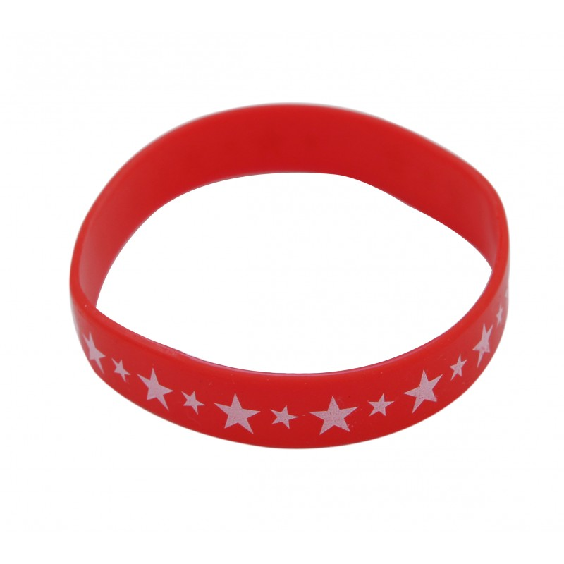 Red Star Silicone Wristband