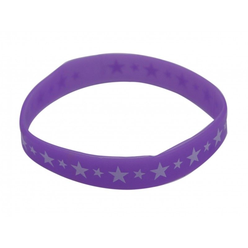 Purple Star Silicone Wristband