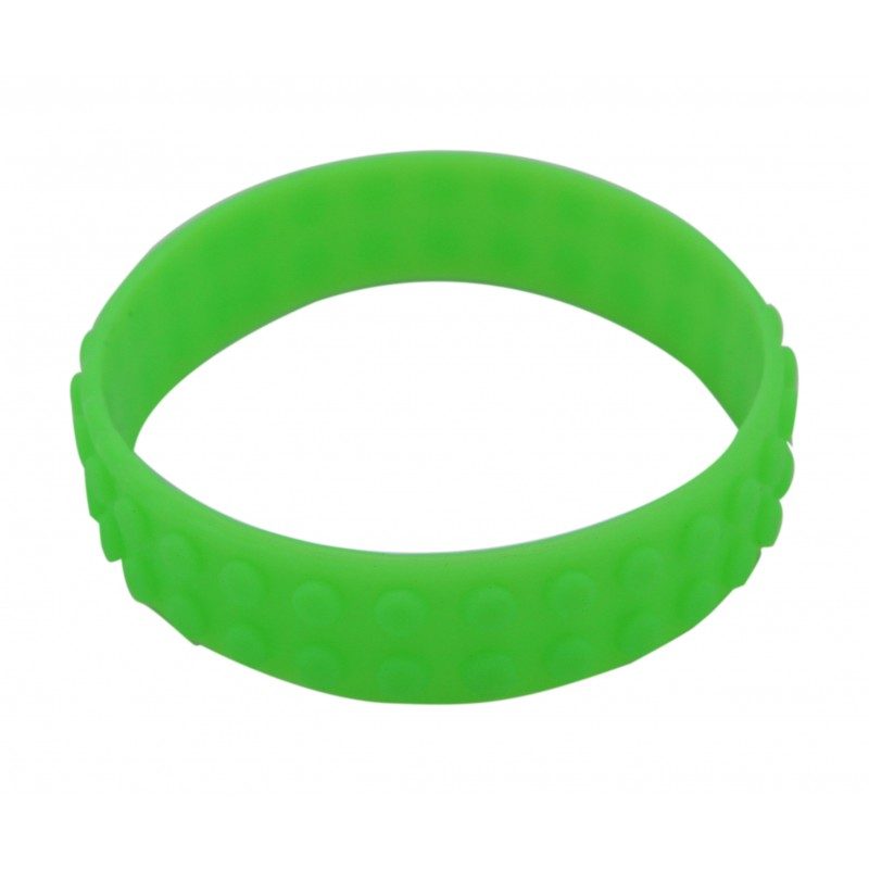 Green Toy Block Bricks Silicone Wristband