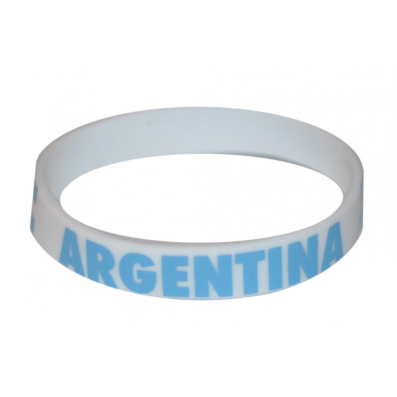 Argentina White World Cup Olympics Silicone Wristband (Pack of 1)
