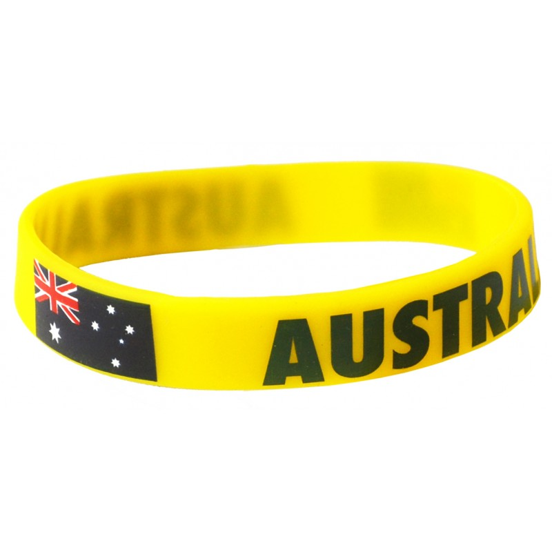 Australia Yellow World Cup Olympics Silicone Wristband (Pack of 1)