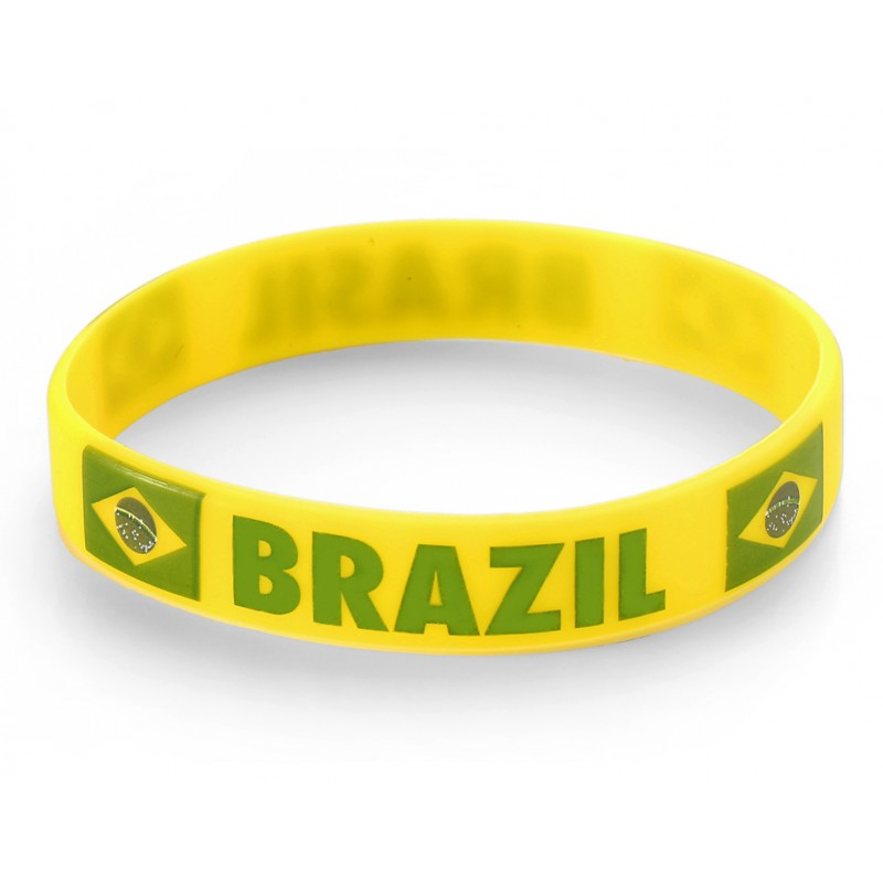 Brazil Yellow World Cup Olympics Silicone Wristband (Pack of 1)