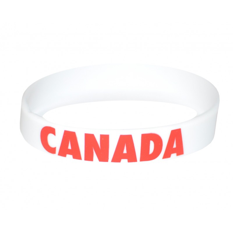 Canada White Olympics Silicone Wristband (Pack of 1)