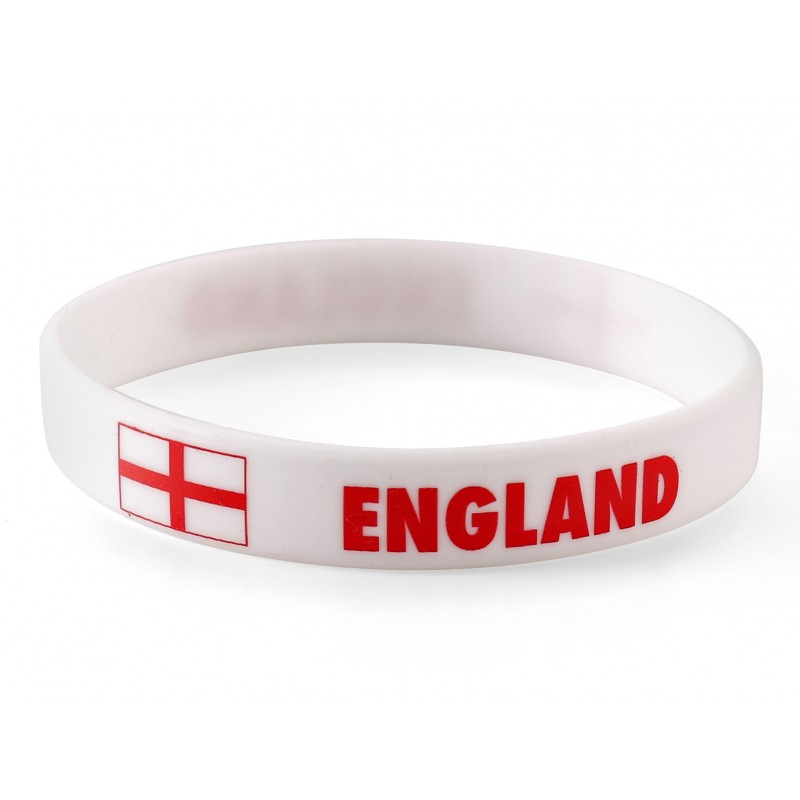 England White World Cup Olympics Silicone Wristband (Pack of 1)