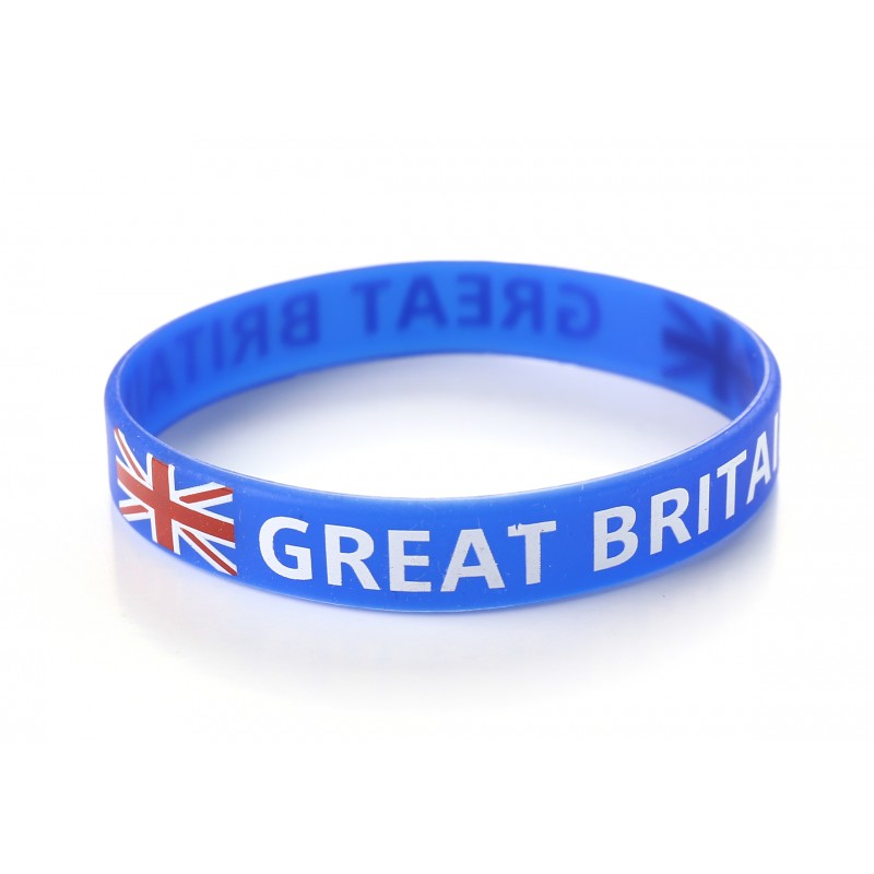 Great Britain Blue Union Jack Silicone Wristbands (Pack of 1)
