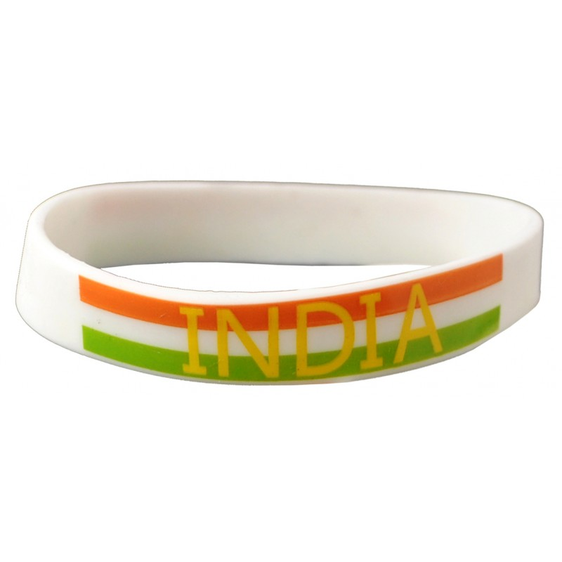 India White World Cup Olympics Silicone Wristband (Pack of 1)