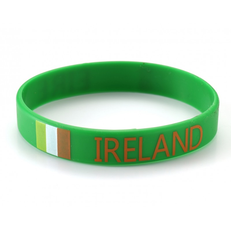 Ireland Green World Cup Olympics Silicone Wristband (Pack of 1)