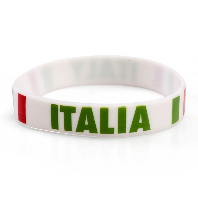 Italy White World Cup Olympics Silicone Wristband (Pack of 1)
