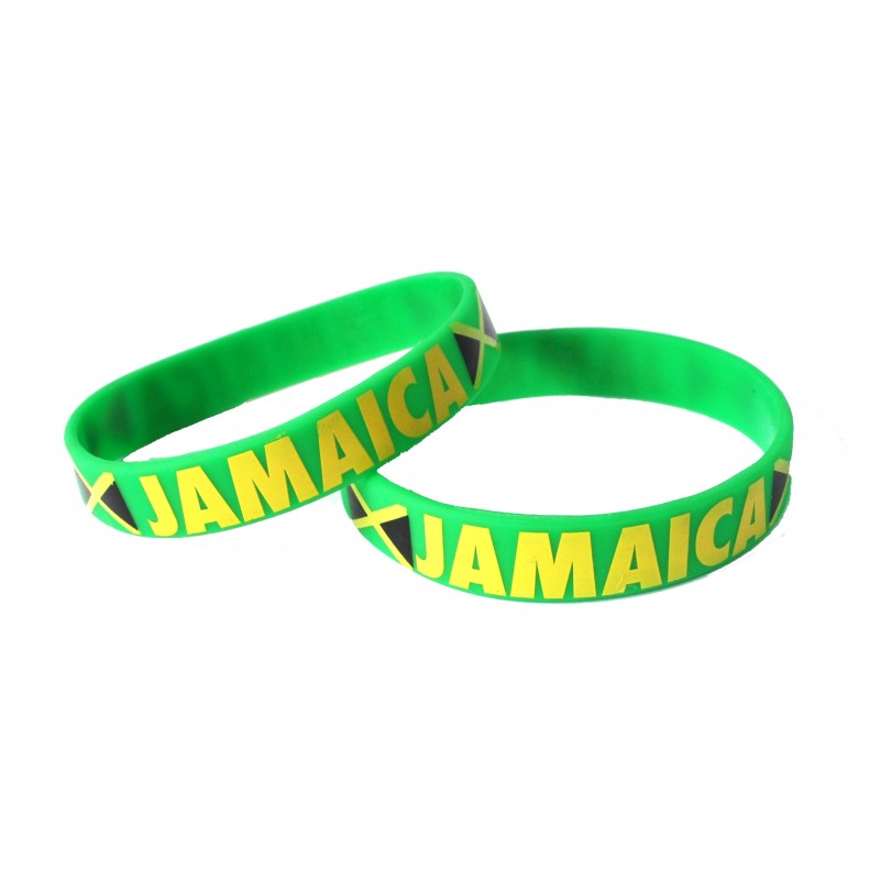 Jamaica Green Caribbean Cup Olympics Silicone Wristband (Pack of 1)