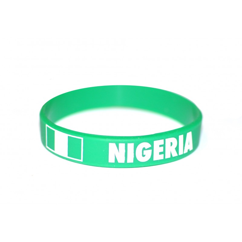 Nigeria Green World Cup Olympics Silicone Wristband (Pack of 1)