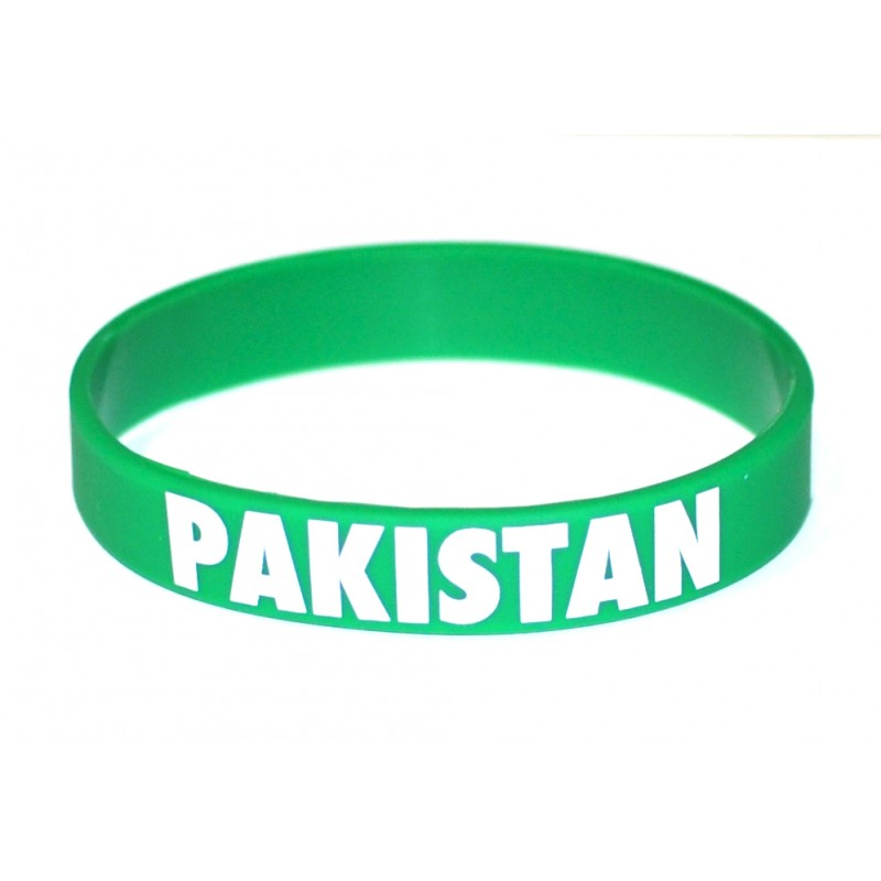 Pakistan Green World Cup Olympics Silicone Wristband (Pack of 1)