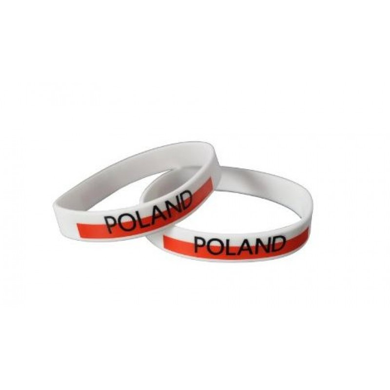 Poland White World Cup Olympics Silicone Wristband (Pack of 1)