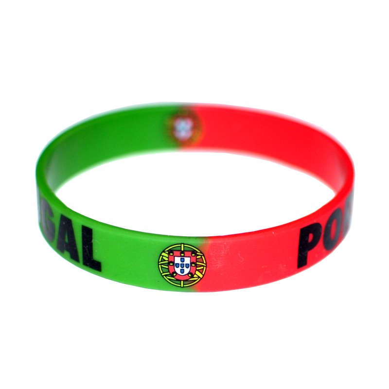 Portugal Green and Red World Cup Olympics Silicone Wristband (Pack of 1)