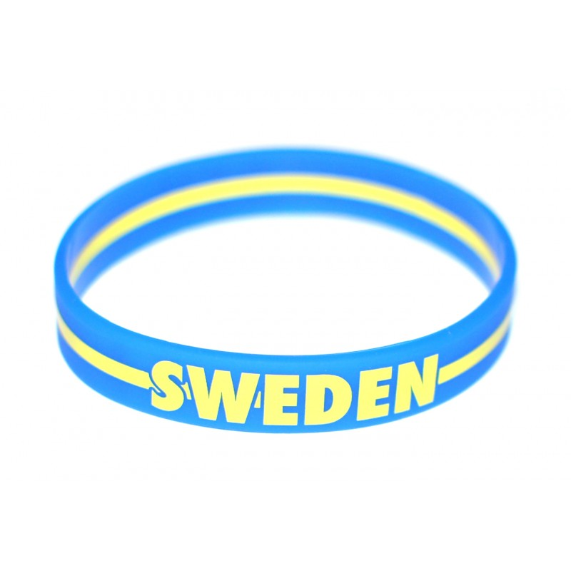Sweden Blue World Cup Olympics Silicone Wristband (Pack of 1)