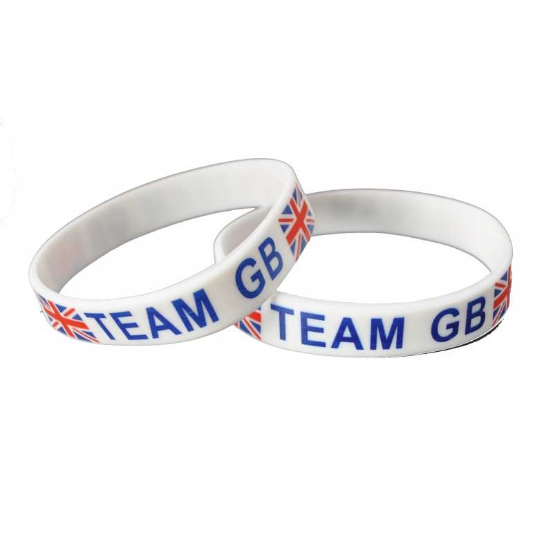 Team Great Britain White Olympics Silicone Wristband (Pack of 1)