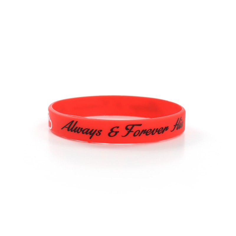 Always and Forever His Red Valentines Day Silicone Wristband (Pack of 1)