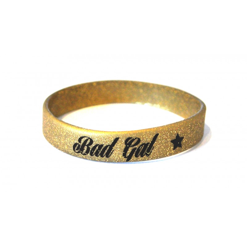 Bad Gal Gold Silicone Wristband (Pack of 1)