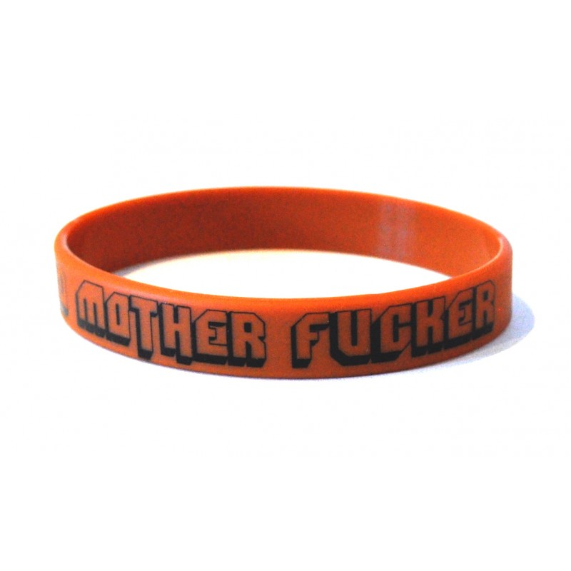 Bad Mother F*cker Brown Silicone Wristband (Pack of 1)