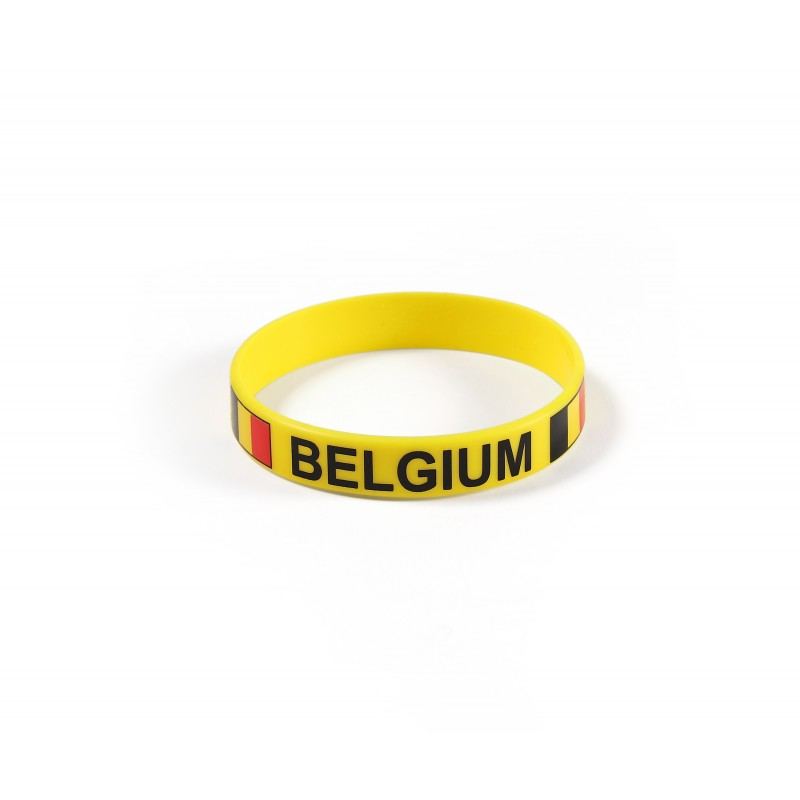 Belgium Yellow World Cup Olympics Silicone Wristband (Pack of 1)